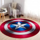 Non Slip Cartoon Printing Round Crawling Carpet for Computer Chair Kids Room Round 2 60cm
