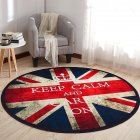 Non Slip Cartoon Printing Round Crawling Carpet for Computer Chair Kids Room Round 11_60cm