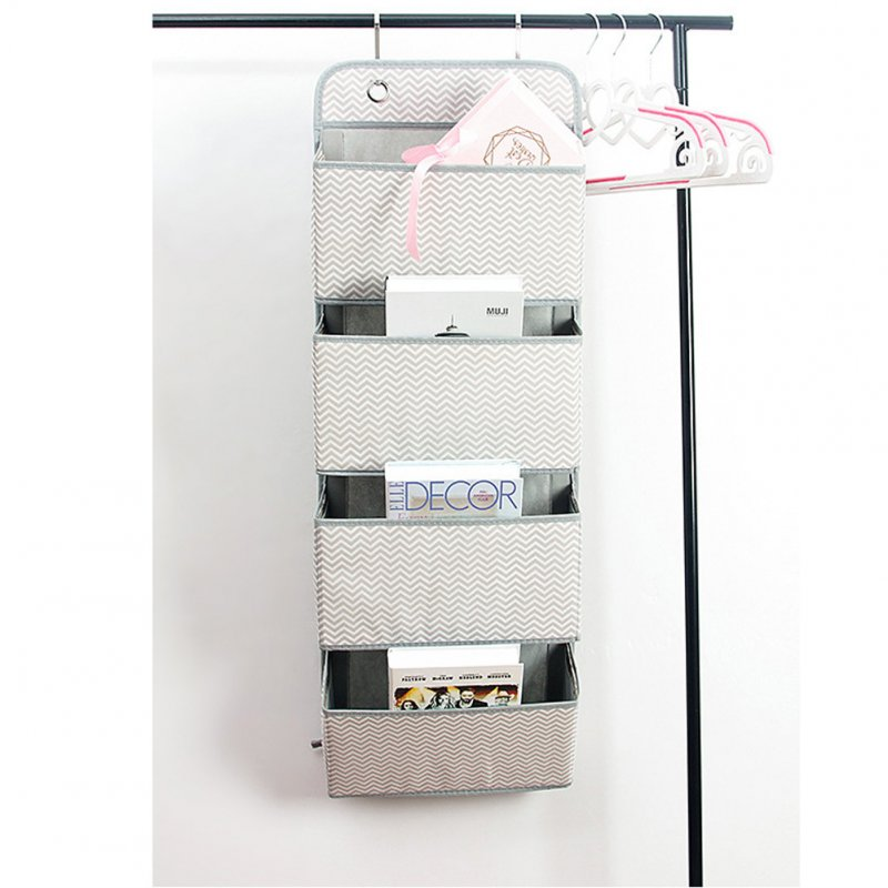 Non Woven Storage Bag Hanging Closet Organizer for Wardrobe Door Clothes Storage Shoes Organiser  Wave