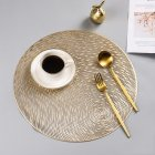 Nonslip Round Shape Hollow Heat Insulation Placemat for Hotel Restaurant Gold