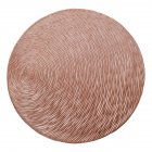 Nonslip Round Shape Hollow Heat Insulation Placemat for Hotel Restaurant Rose gold