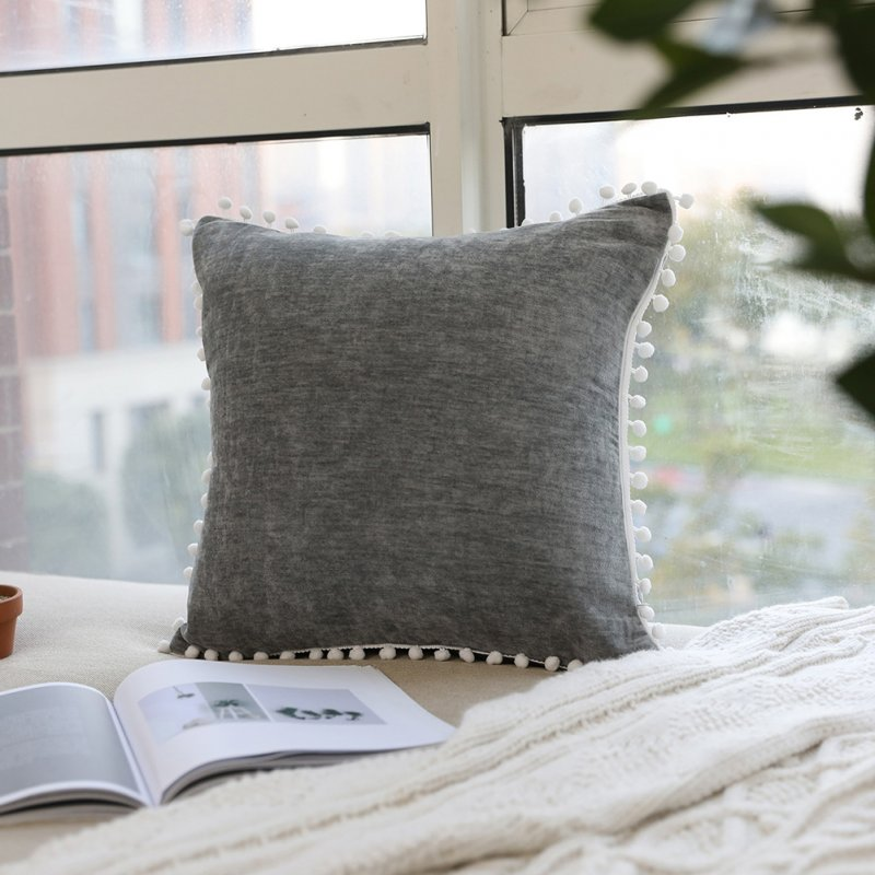 Nordic Style Decorative Solid Color Trow Pillow Cover for Sofa Bedroom Not Including Filling