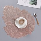 Nordic Style Solid Color Thermal Insulation Hollow Nonslip Placemat  Rose gold