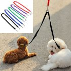 Nylon Couple Double Pet Dog Collar Lead Leash Dog Training Walking Dog Harness Strap