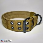 Nylon Dog Collar with 5 Modes Adjustable Buckle for Outdoor Pet Training Mud color_m(35-45)