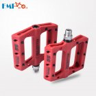 Nylon Fiber Mountain Bike Pedals for Road MTB BMX Bicycle Anti-Skid Pedals Bike Accessories red