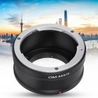 OM M4 3 Lens Adapter Ring For OM Mount Lens To Fit Olympus M4 3 Mirrorless Camera black