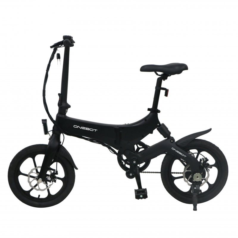 ONEBOT S6 Electric Bike Foldable Bicycle Variable Speed City E-bike 250W Motor 6.4Ah Battery Max 25Km/h Max Load 120kg black