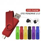 OTG USB Flash Drive USB 2 0 Stick Pen Drive Smartphone Pendrive 8G 16G 32G 64G Storage Devices