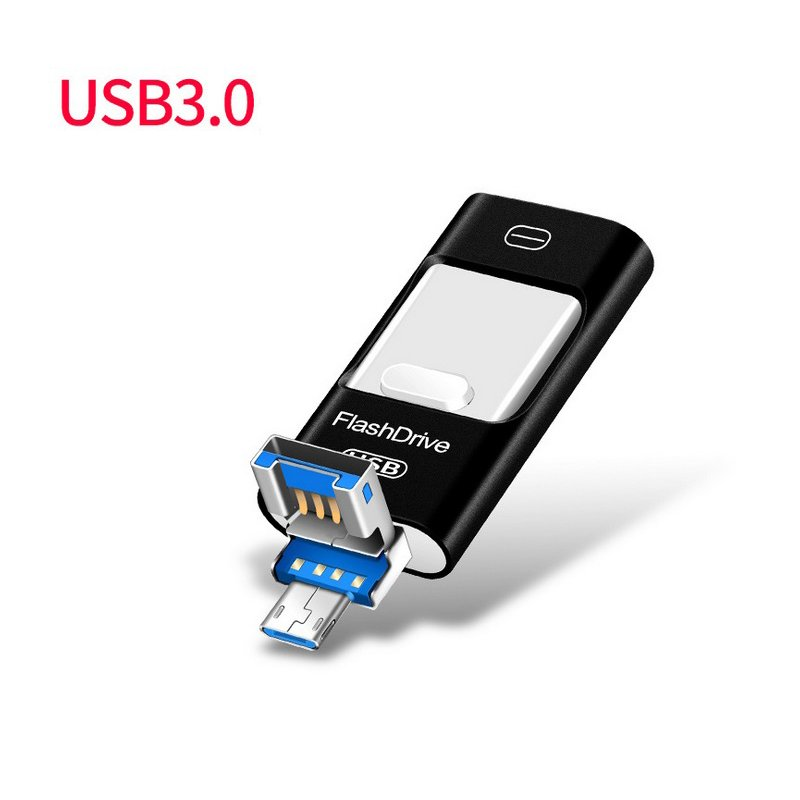 OTG USB Flash Drive for iPhone 5/5s/6/6s Mobile Phone USB Flash Drive High Speed USB OTG Pen Drive  black