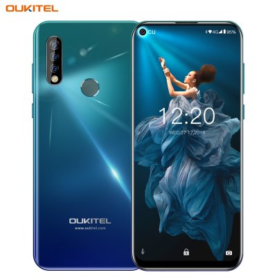 OUKITEL C17 Pro 6.35'' Android 9.0 19:9 MT6763 4GB 64GB Smartphone Face ID Octa Core 3900mAh Triple Camera 4G Mobile Phone Gradient