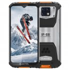 OUKITEL WP6 Ip68 Rugged Waterproof Smartphone Mt6771t Octa Core 9v/2a 10000mah Battery 48mp Triple Camera 6gb 128gb Mobile Phone Orange