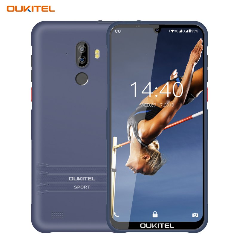 OUKITEL Y1000  6.1inch Waterdrop Display Mobile Phone 8MP+5MP 2G+32G Dual SIM 4 Core Android Phone Navy blue