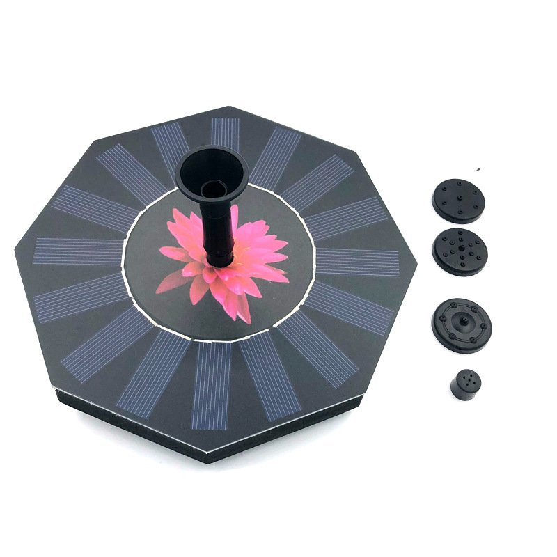Octagonal Solar Water Fountain Water Pump for Outdoor Landscape Decoration Octagonal fountain