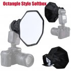 Octangle Style Softbox 20cm Foldable Soft Flash Light Diffuser Camera Photography Softbox for Studio  black