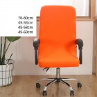 Office Chair  Cover Universal Stretch Desk Chair Cover Computer Chair Slipcovers Candy orange