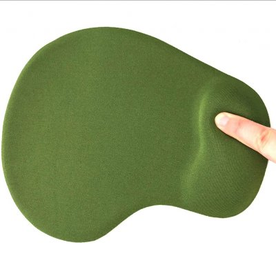 Office Mousepad with Gel Wrist Green