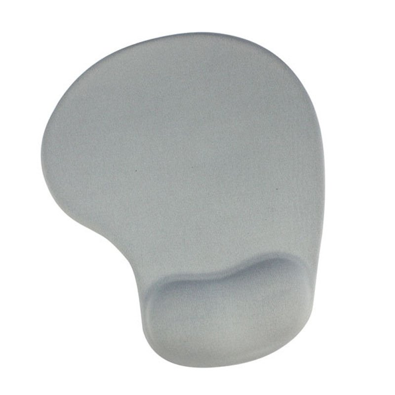 Office Mousepad with Gel Wrist Gray