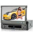 One DIN car stereo DVD player with a 7 inch flip out touchscreen GPS  DVB T and built in OBD II diagnostics