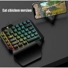One-Handed Keyboard Left-Hand Gaming Keyboard 39-Key Full Key USB Interface Support for Backlight  Eat chicken key hat version