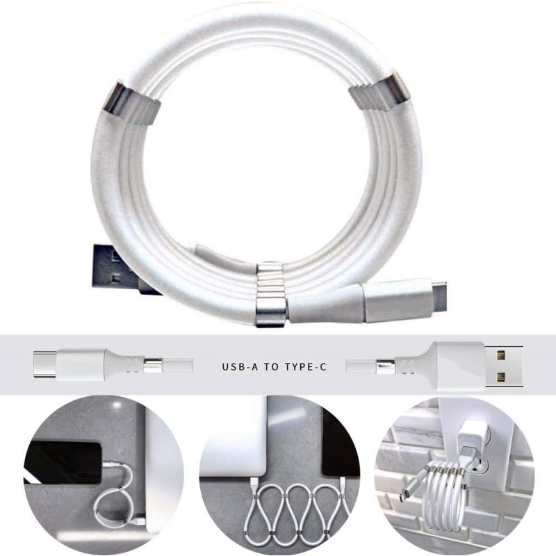One Meter Data Charging Cable Magnetic Absorption Type C Line  type-C interface