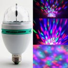 Onedayshop   RGB Crystal Ball Effect Light E27 LED Rotating Stage Lighting For Disco DJ Party