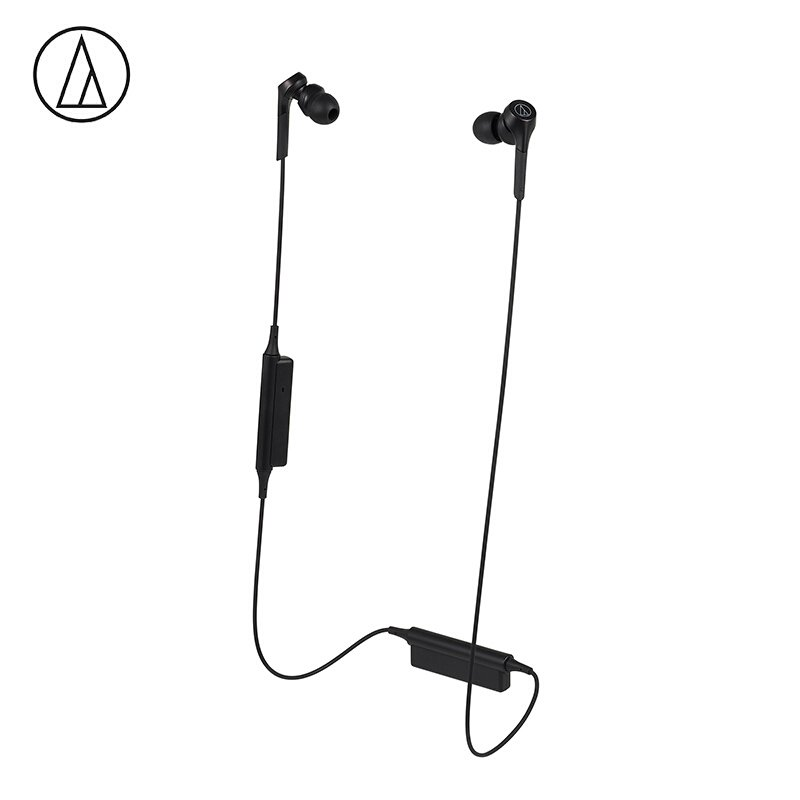 Original Audio-Technica ATH-CKS550XBT Bluetooth Earphone Wireless Sports Headset Compatible With IOS Android Huawei Xiaomi Oppo Cellphone Black