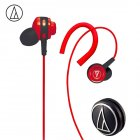 Original Audio-Technica ATH-COR150 Wired Earphone In-ear Sport Headset Adjustable Ear-hook Headphone Sweatproof Design Red