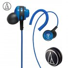Original Audio-Technica ATH-COR150 Wired Earphone In-ear Sport Headset Adjustable Ear-hook Headphone Sweatproof Design Blue