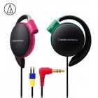 Original Audio-Technica ATH-EQ500 Wired Earphone Music Headset Ear Hook Sport Headphone Surround Bass For Xiaomi Huawei Oppo Etc Contrast Color