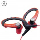 Original Audio Technica ATH-SPORT1iS In-ear Wired Sport Earphone With Wire Control With IPX5 Waterproof For IOS Android Smartphone Red