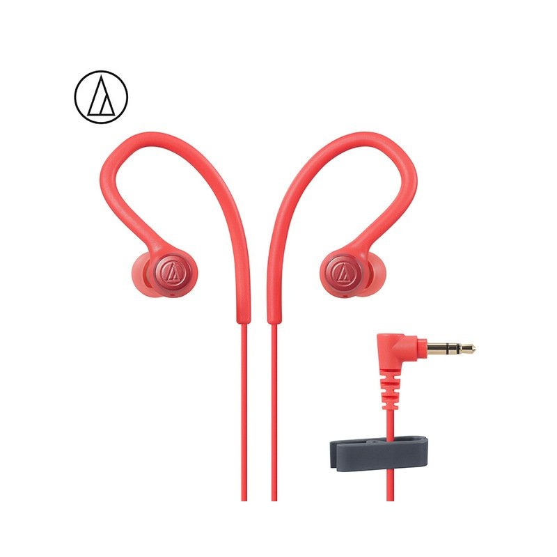Original Audio-Technica ATH-SPORT10 In-ear Wired Earphone Music Headset Sport Earbuds With IPX5 Waterproof For Huawei Xiaomi Red