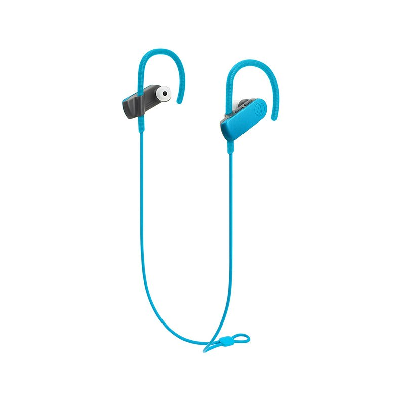 Original Audio-Technica ATH-SPORT50BT Bluetooth Earphone Remote Control Wireless Sports Headset IPX5 Waterproof For IOS Android Cellphone Blue