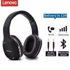 Original LENOVO Hd300 Bluetooth Headset Wireless Foldable Long Standby Sports Running Stereo Gaming Headset black