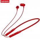 Original LENOVO QE03 V5.0 Wireless Neckband Bluetooth Earphones Sports Stereo Earbuds Magnetic In-ear Earphones red
