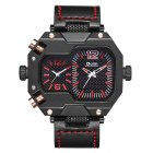 Oulm HP3878 Stylish Men Quartz Watch Red