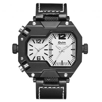 Oulm HP3878 Stylish Men Quartz Watch White