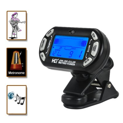 Guitar Tuner Clip (Mini 3-in-1 Edition)