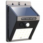 Outdoor 20 LED Solar Wall Lights Power Motion Sensor Garden Yard Path Lamp As shown