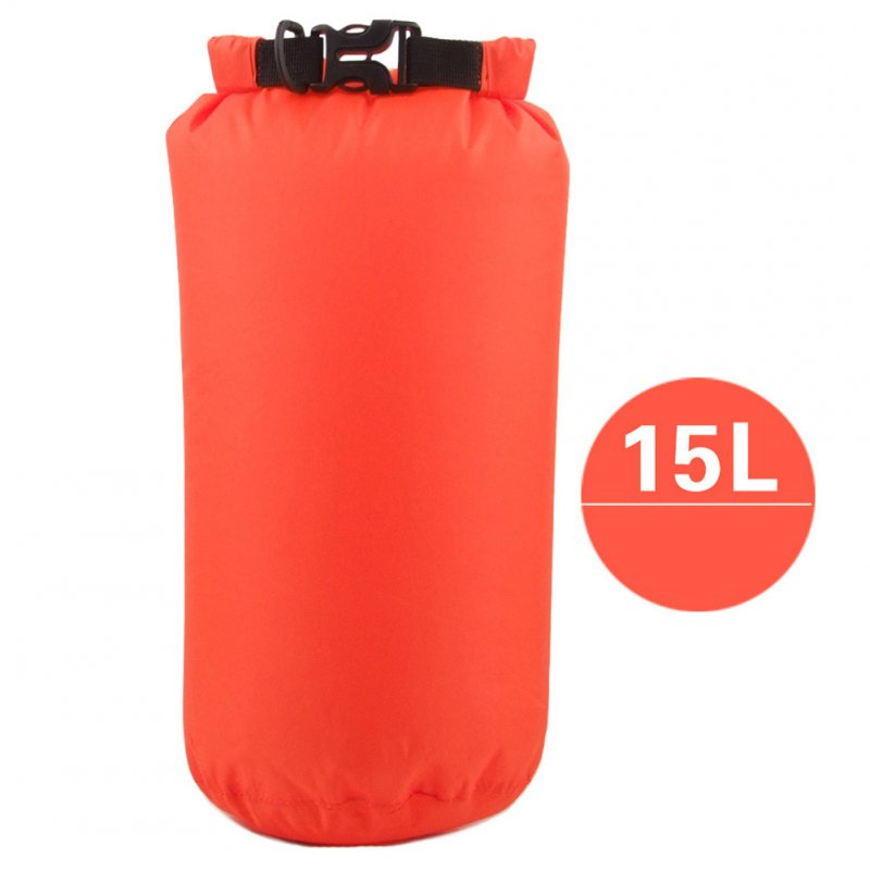 Outdoor Bag Camouflage Portable Rafting Diving Dry Bag Sack PVC Waterproof Folding Swimming Storage Bag for River Trekking Orange (15L)_15L
