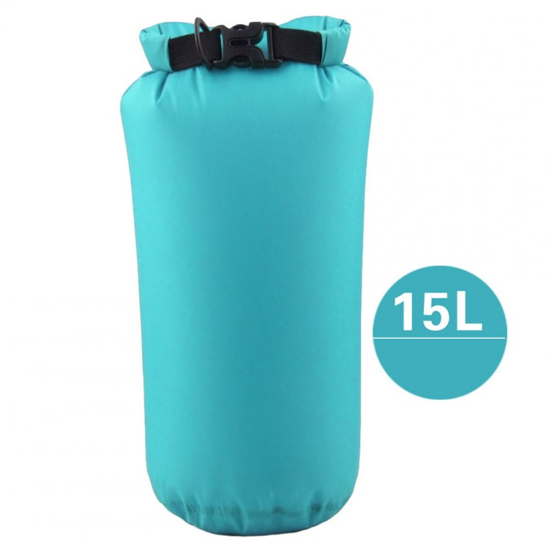 Outdoor Bag Camouflage Portable Rafting Diving Dry Bag Sack PVC Waterproof Folding Swimming Storage Bag for River Trekking Sky blue (15L)_15L