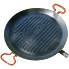 Outdoor Baking Rack Mutifunction Non-Stick Frying Pan For Roasting Grilling Barbecue  black