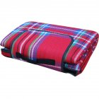 Outdoor Beach Picnic Folding Camping Mat Waterproof Sleeping Camping Pad Mat Moistureproof Plaid Blanket red_200 * 150