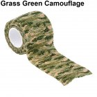 Outdoor Camouflage Tape Retaining Plastic Retractable Non-woven Outdoor Camouflage Tape Grass camouflage