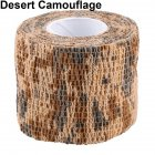 Outdoor Camouflage Tape Retaining Plastic Retractable Non-woven Outdoor Camouflage Tape Desert camouflage