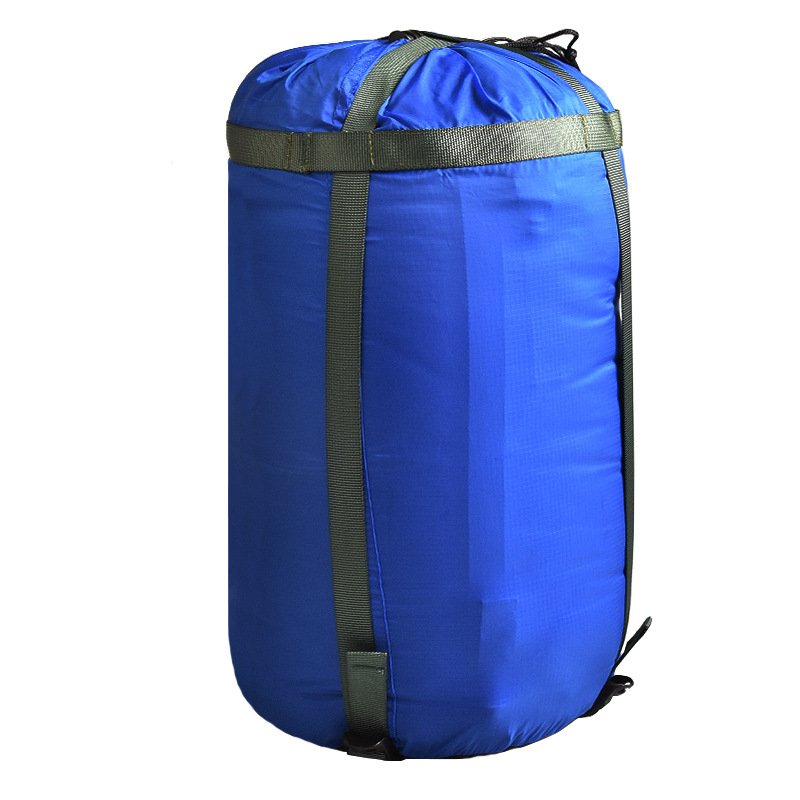 Outdoor Camping Sleeping Bag Compression Pack Leisure Hammock Storage Pack Camping Hiking Sleep Travel Bags blue_23*51cm