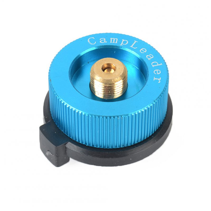 Outdoor Camping Stove Connector Conversion Head Long Tank to Card Gas Bottle Cylinder Adapter Furnace Converter  Lake Blue