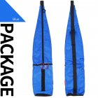 Outdoor Climbing Cane Backpack Waterproof Knapsack Portable Walking Stick Storage Bag Fishing Pole Storage blue