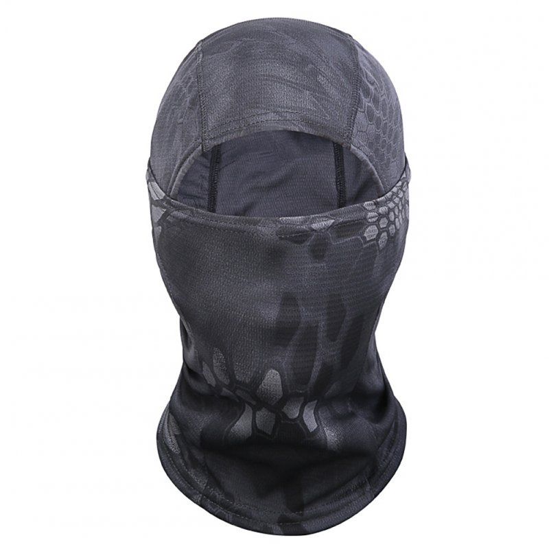 Outdoor Cycling Balaclava Full Face Mask Bicycle Ski Bike Ride Snowboard Sport Headgear Black snake pattern_One size