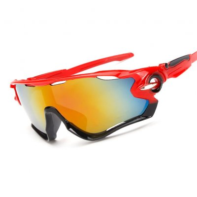 Outdoor Cycling Sunglasses Red frame